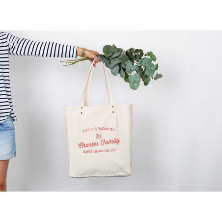 Tote Bag personnalisable Trendy Charles Family