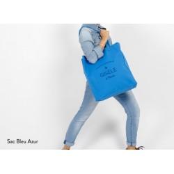 Sac personnalisable Tote Bag Trendy Bleu Azur