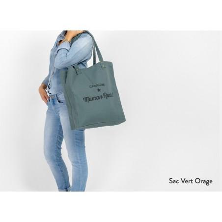Sac personnalisable Tote Bag Trendy Vert Orage