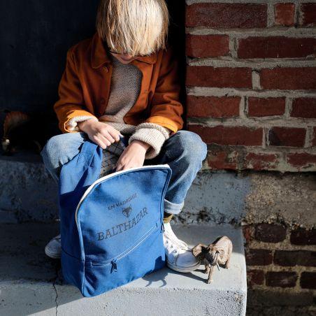 Sac-à-dos enfant personnalisable Bleu Impérial