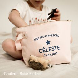 Trousse de toilette personnalisable Rose Perfect