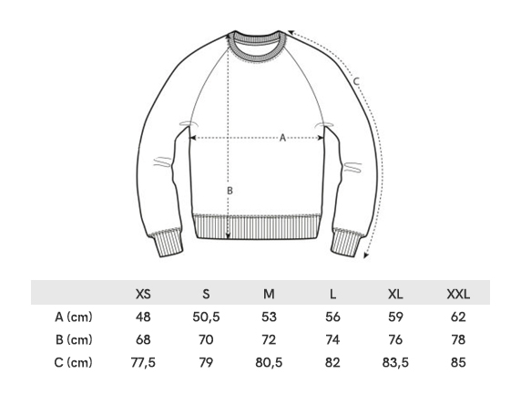 Grille Taille Sweater Homme