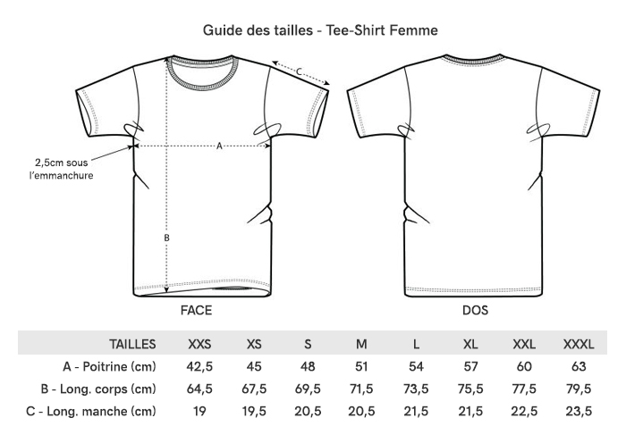 Grille Taille Tee-Shirt Femme